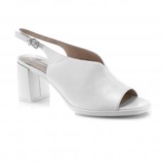 Baltos spalvos moteriški atviri bateliai