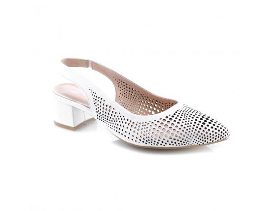 White colour women open shoes