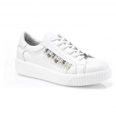 White colour women court shoes