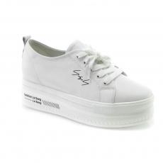 White colour women court shoes