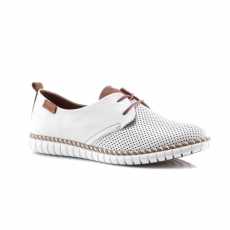 White colour women leisure shoes