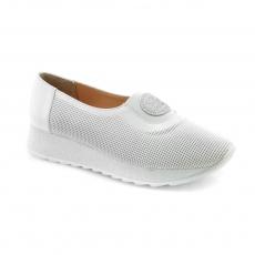 Baltos spalvos moteriški laisvalaikio bateliai