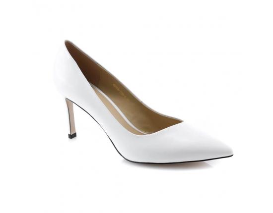 Baltos spalvos moteriški proginiai bateliai