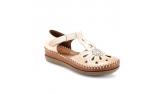 ivory colour women open shoes