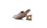 ivory colour women open shoes