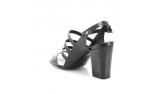 Black colour women open shoes