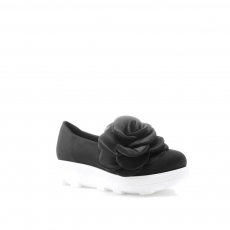 Black colour women court shoes
