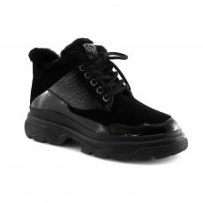 Juodos spalvos moteriški žieminiai batai