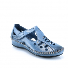 Blue colour women open shoes