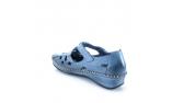 Mėlynos spalvos moteriški atviri bateliai