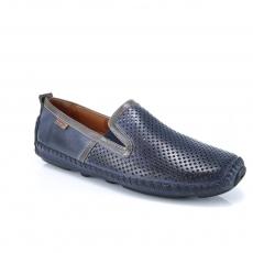 Blue colour men open shoes