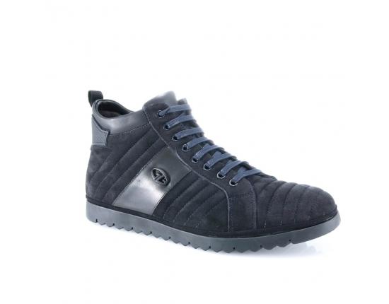 Mėlynos spalvos vyriški  rudeniniai pašiltinti batai