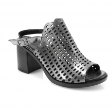 Grey colour women open shoes