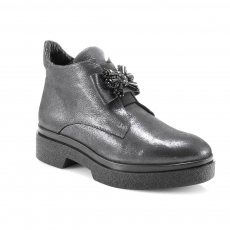 Grey colour women ankle boots