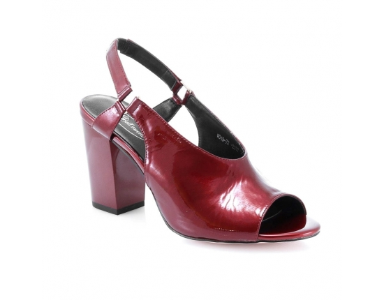 Red colour women open shoes