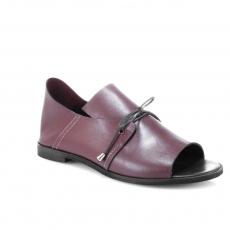 Red colour women open shoes