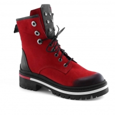 Red colour women ankle boots