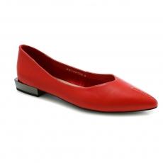 Red colour women court shoes