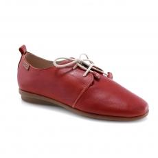 Raudonos spalvos moteriški laisvalaikio bateliai