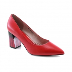 Red colour women formal shoes