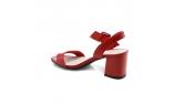Raudonos spalvos moteriškos basutės