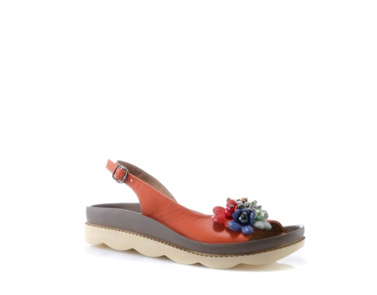 Red colour Women sandals