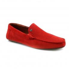 Red colour men open shoes