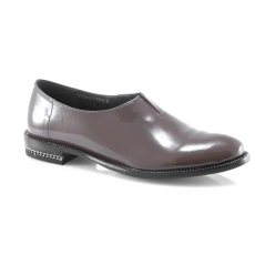 Brown colour women court shoes