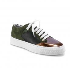 Green colour women court shoes
