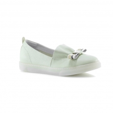 Green colour women leisure shoes