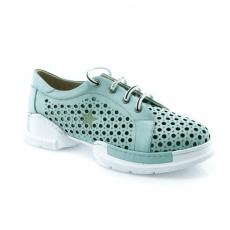 Green colour women leisure shoes