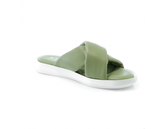 Žalios spalvos moteriškos basutės